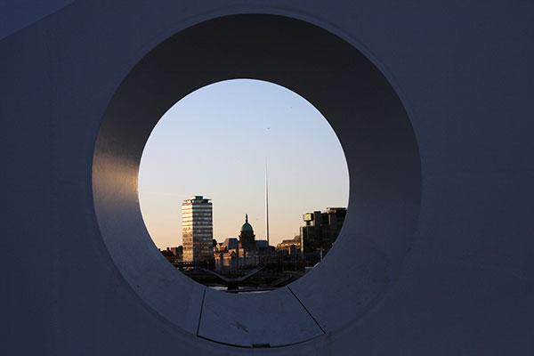 Blick auf Dublin City Centre mit dem Spire