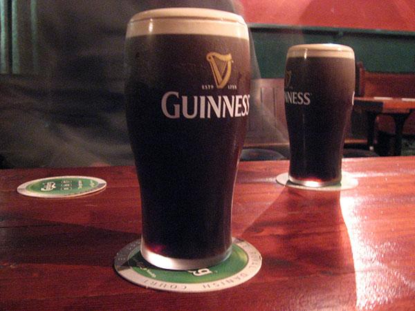 Ein frisches Pint Guinness