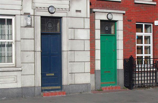 Farbige Haustüren in Dublin