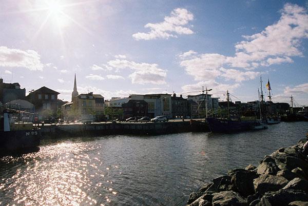 Blick auf Wexford im Südosten Irlands